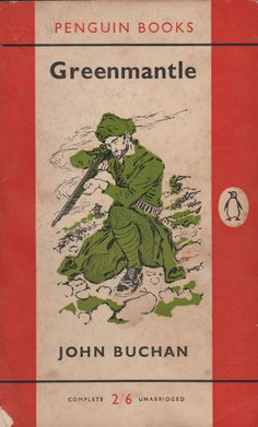 An image of the orange Penguin cover of Greenmantle by John Buchan from Book Cover Art, Book Cover Design, Book Design, Book Art, Book Writer, Book Authors, Vintage Book Covers, Vintage Books, Penguin Books Classics