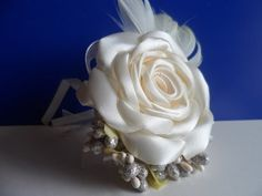 DIY kanzashi flower, how to make ribbon rose,kanzashi rose,kanzashi flores de cinta - YouTube