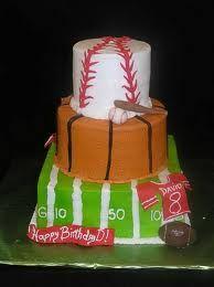 football/baseball cake sweet