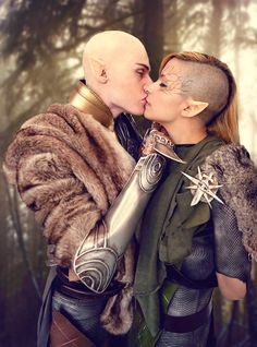 Amazing cosplay of Solas and Inquisitor Lavellan (Dragon Age)