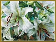Акварельный мастер-класс Lisa Hill раскрывает секреты рисования белых лилий.