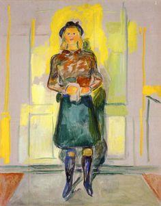 Visiting at Ekely Edvard Munch- 1942