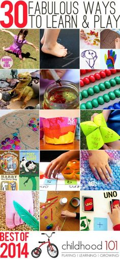 The BEST of 2014: 30 fabulous play and learning ideas for kids of all ages.