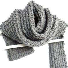 Free Knitting Pattern Ridge Rib Men's Scarf