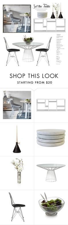 """""""Set the Table"""" by conch-lady ❤ liked on Polyvore featuring interior, interiors, interior design, home, home decor, interior decorating, Modern by Dwell Magazine, Caravan, Modloft and Nambé"""