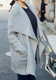 Epic Grey Knitted Cardigan