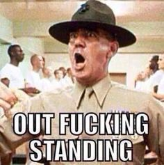 Lee Ermy as Gunnery Sergeant Hartman from Full Metal Jacket. Perhaps one of the best lines in the movie. Movie Quotes, Funny Quotes, Life Quotes, Funny Memes, Jokes, Funny Shit, Funny Stuff, Awesome Stuff, Funny Things