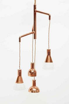Kare Mezzo Pendant Lamp in Copper - Urban Outfitters