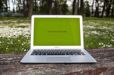 MacBook Air Mockup - Free PSD File