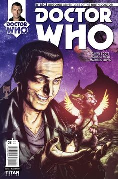 Doctor Who: The Ninth Doctor Vol 5 has Mickey the Idiot and gargoyles and other such happy things for fans to love. Doctor Who 9, Doctor Who Books, Doctor Who Comics, Ninth Doctor, Black Cat Comics, Dr Who, Dc Comics, Ebooks, Novels