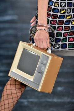 LUXURY BRANDS | Jeremy Scott SS16 Television hand bag | www.bocadolobo.com #luxurybrands #highendfashion