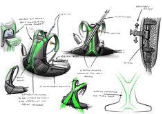 Team 10 Ultralight trail backpack by christophe juge, via Behance