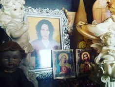 He is absolutely everywhere in my old room  #HIM #heartagram #heart #villevalo #polishgirl #finnishgirl #polishwomen #altar #angels #holyMary #myJesus