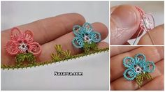 This Pin was discovered by Zeh Needle Lace, Filet Crochet, Tatting, Diy And Crafts, Embroidery, Flowers, Jewelry, Punch Needle, Cases