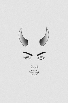 Femme Fatale Mini Art Print by bboo Trippy Drawings, Mini Drawings, Dark Art Drawings, Art Drawings Sketches Simple, Pencil Art Drawings, Easy Drawings, Demon Drawings, Hipster Drawings, Drawing Ideas