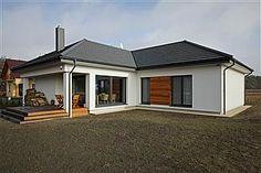 Gotowe projekty domów - gwarancja najniższej ceny - EXTRADOM Bungalow House Design, Contemporary House Plans, Design Case, Shed Plans, Exterior Colors, Colour Schemes, Home Fashion, Garage Doors, New Homes