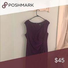 Purple Adrianna Papell dress Adrianne Papell dress. Beautiful royal purple color. Waist enhancing rouching. Cap sleeves, v-neckline, zipper in back and kick pleat. A gorgeous classy dress. Great condition. Adrianne Papell Dresses Midi