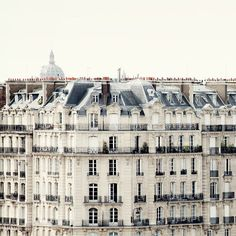 Parisian rooftops and windows - Fine art travel photography