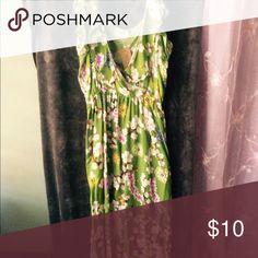 Maxi dress Apple green maxi dress with cherry blossoms. Dresses Maxi