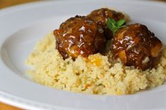 Moroccan-Spiced Lamb Meatballs In Minted Apricot Glaze