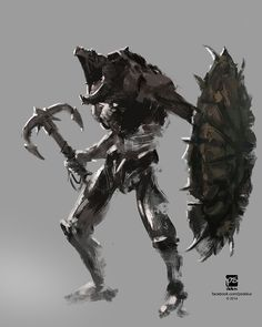 20140911 creature warrior villain by psdeluxe