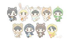 Exo Fan Art, Kpop, Baekhyun, Chibi, Comics, Wallpaper, Cute, Fanart, Entertainment