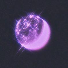 cute purple moon