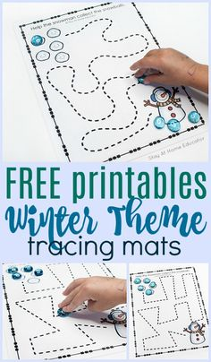 FREE Preschool Winter Printables for Pre-Writing Practice
