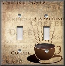 Light Switch Plate Cover Kitchen Decor Cafe Fresh Coffee