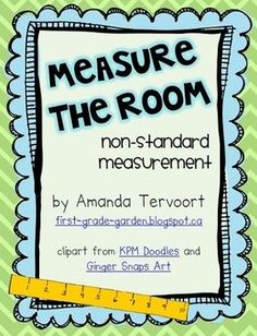 """This is a fun non-standard measurement math centre. There are 10 school supply picture cards that students can measure with any non-standard tool, such as unifix cubes, links, paper clips, etc. The cards can be placed around the room, as a """"Read the Room"""" type activity, or they can be placed in a basket as a stationary centre."""