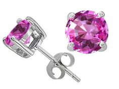 Original Star K(tm) Round 7mm Created Pink Sapphire Earring Studs in .925 Sterling Silver Star K. $21.98. Guaranteed Authentic from the Star K designer line. Free Lifetime Warranty exclusively offered by Finejewelers. Certificate of Authenticity Included with this item. Free High End Jewerly Box and Gift Packaging. Save 63% Off!