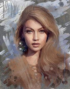 Диджитал портреты работа девушка модель в симферополе