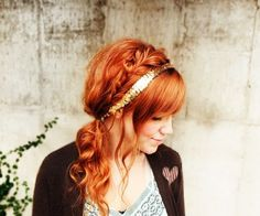 Boho wedding hair!