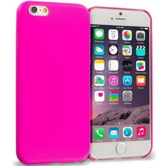 Hot Pink Premium Leather TPU Slim Case Cover for Apple iPhone 6 Plus 6S Plus