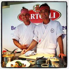 Executive Chef Shaun Presland and Sydney Head Chef Shimpei Hatanaka at 2013 Executive Chef, Sydney, Behind The Scenes, Chef Jackets