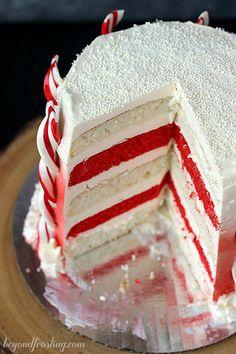 Candy Cane Layer Cake