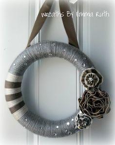 Modern Sparkle Yarn Wreath