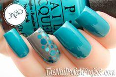 nail art: OPI Taylor Blue + China Glaze Recycle + dots in Taylor Blue + white creme + OPI Ski Teal We Drop Nail Art Designs, Colorful Nail Designs, Nails Design, Teal Nails, Finger, Dot Nail Art, Blue Nail Polish, Hot Nails, Fabulous Nails