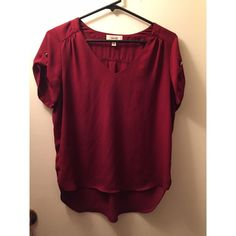 Meraki Maroon Blouse Meraki Maroon Blouse  LIKE NEW   Only used once and it was too small  In Great Condition, no defects or rips.  Size: M Color: Maroon   I'm open to offers or bundles!!   ALL SALES ARE FINAL  Meraki Tops Blouses