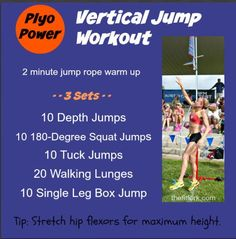 Plyo Power Workout - How To Increase Your Vertical Jump - plyometric exercises that focus on explosive leg strength, good for basketball, volleyball and all-around functional fitness - thefitfork.com