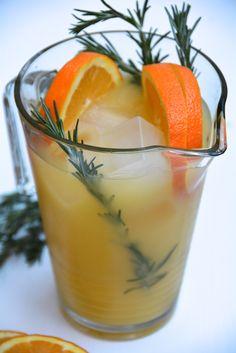 Holiday Drinks: Rosemary Orange Punch