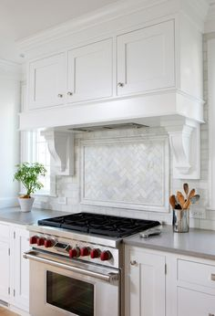 White hood kitchen cabinetry
