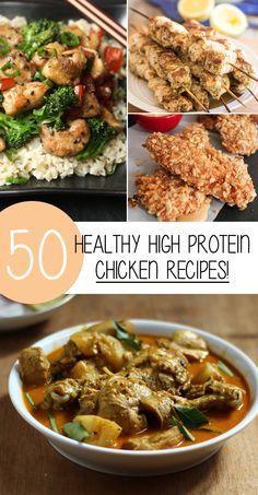 50 High Protein Chicken Recipes That Are Healthy And Delicious! // 50 Receteas De Pollo Altas En Protíenas Que Son Sanas y Deliciosas