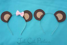 teddy bear ears by FatCatParties on Etsy