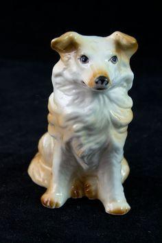 Shepherd Collie Mix Figurine Dog Figurine by MorningGloryModerne