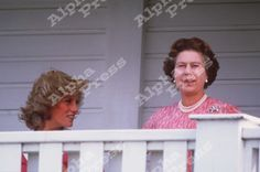 princess diana windsor | ALPHA M00377 29/07/84.QUEEN & PRINCESS DIANA .AT WINDSOR POLO