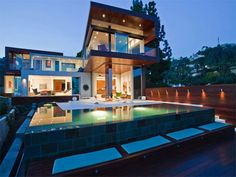 hollywood backyards | luxus villa hollywood hills außendesign