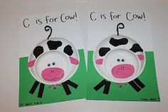 Tot School - Cc is for Caterpillars, Cows and Camping Owen & Eli: 37 months Cows & Caterpillars The alphabet tracing pages from Money Savin. Farm Animal Crafts, Farm Crafts, Daycare Crafts, Sunday School Crafts, Toddler Crafts, Crafts For Kids, Farm Animals, Letter C Crafts, Alphabet Crafts