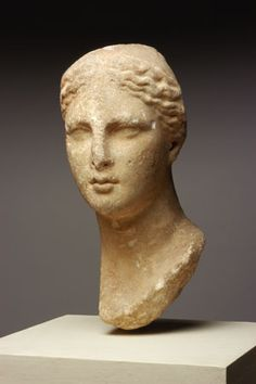 Marble Female Head from a Statue        Egypt, said to have been found near Alexandria          Mid-3rd-2nd century          B.C