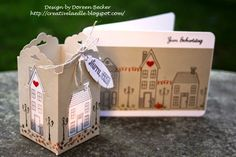 Holiday Home stamp set with matching framelits and the Scalloped Tag Topper punch. Geburtstagsgeschenk für ..